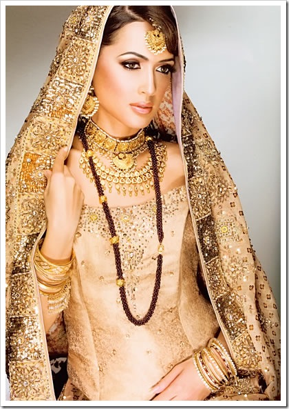 Indian bridal makeup, jewellery & bridal dress 2