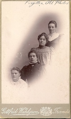 4 girls foreign photo Bemidji Antiques