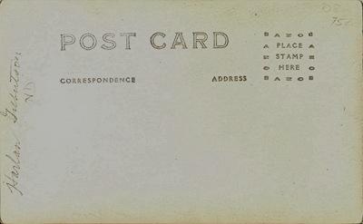 Harlan Gilbertson RP Postcard back
