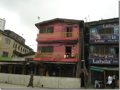 Typical shop lots in Lagos.