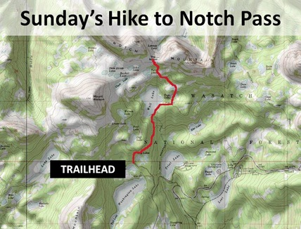 Notch Pass Hike Route