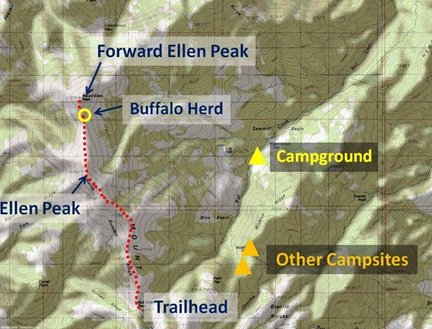 Ellen Route Map