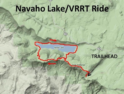 Navajo Lake Ride Map