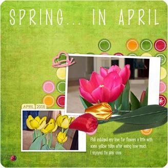 20080429 Studio Starts 84 Spring Tulips