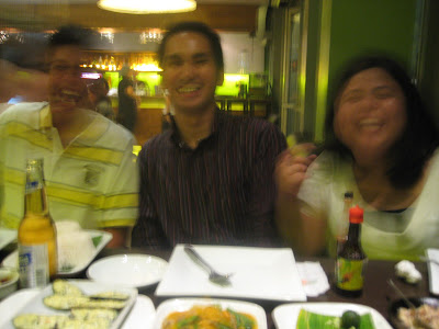 Deliriously Happy: High school friends dining and laughing together