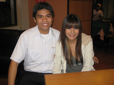 Hubby with Cristina Pastor of Pinoy Dream Academy Season 2