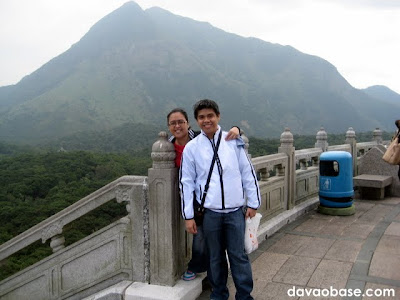 We have reached the peak of Ngong Ping, near the Giant Buddha's feet!