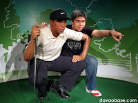 Tiger Woods at Madame Tussauds in The Peak, Hong Kong