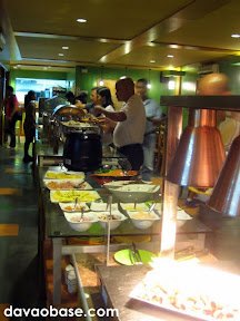 Long buffet table at Wild Safari Grill