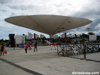 The outdoor stage at the New City Hall in Tagum City