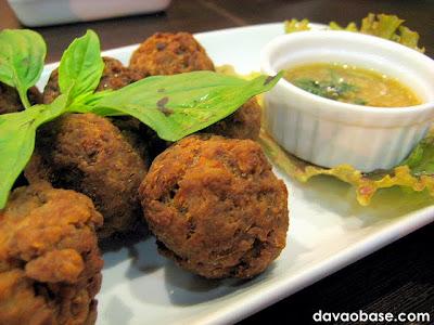 Crispy Meatballs with Curry Filling at Bangkok Wok