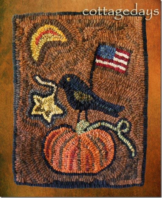 crow-&-pumpkin-hooked-rug