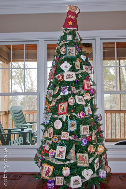 needlework tree in great room