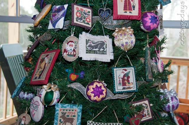 another needlework tree closeup