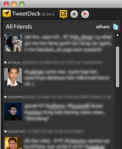 Filtered TweetDeck Timeline