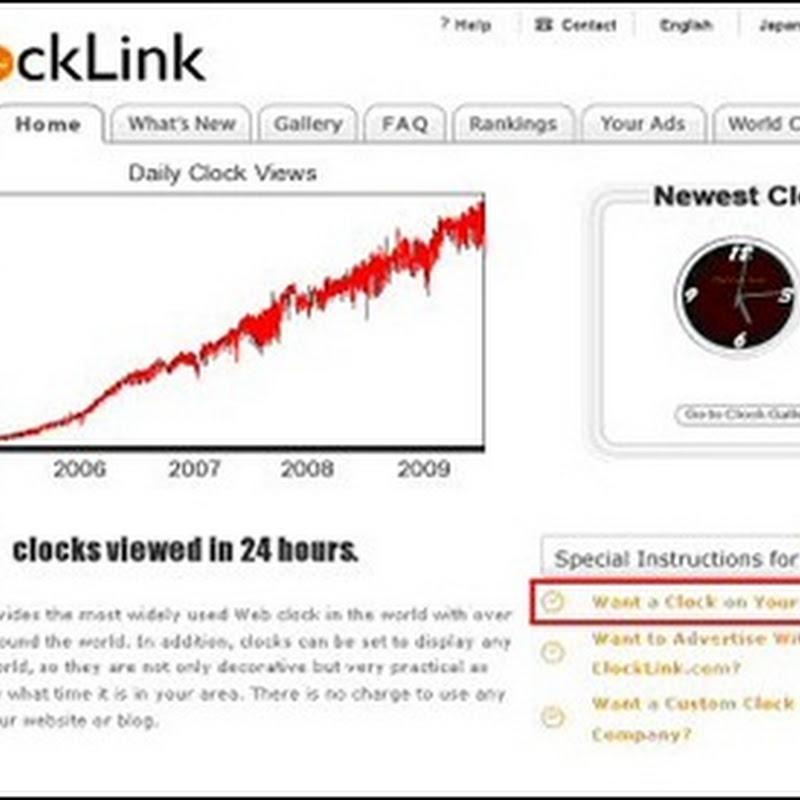 Memasang Jam Untuk Mempercantik Blog