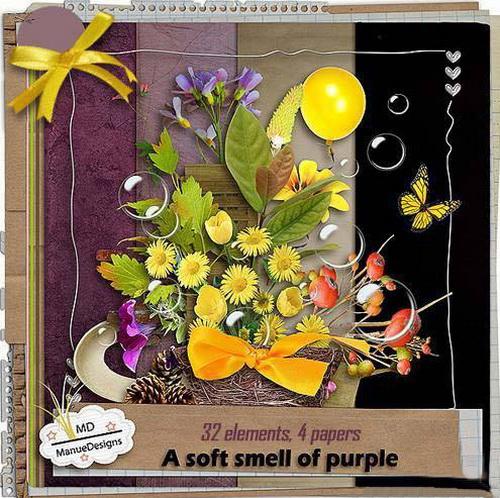 Скрап-набор - Нежный запах пурпура
