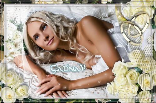 Свадебная фоторамка - Букет невесты