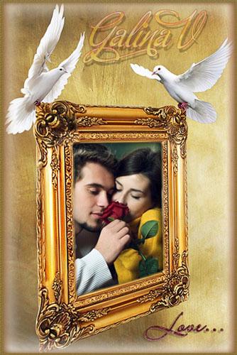 Sevgililer için Muhteşem Fotoğraf Çerçevesi-Psd