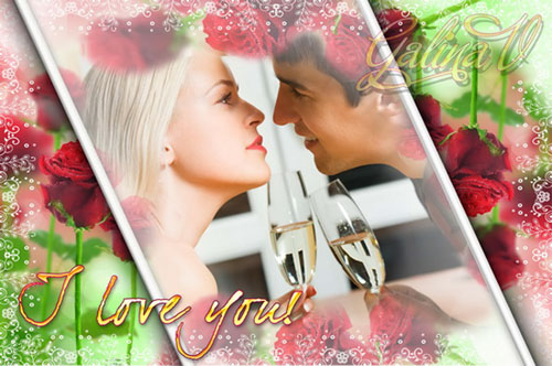 Photoframe - I love You PSD | 3626x2409 | 300 dpi | 8 abled layers | 73,3 MB