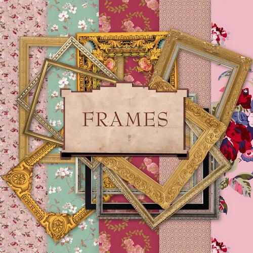 Скрап-набор - Рамки и фоны в стиле винтаж