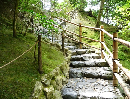 13.ginkakuji escadaria