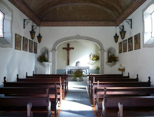 agueda - capela de são sebastião interior