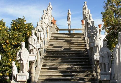Castelo Branco - Jardim do Paço Episcopal - escadaria dos reis