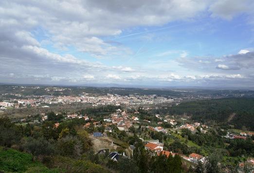 Ourém - Castelo - vista do miradouro conegos