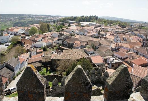 9.Trancoso -  castelo medieval - vista a partir da torre de menagem 2