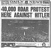 Balkenüberschrift der Titelseite der New York Daily News