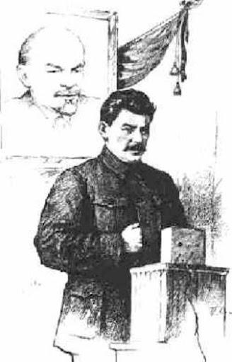 """Stalin mit der """"hidden hand"""" der Illuminaten"""