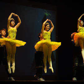 jump..!!! by Hery Sulistianto - News & Events Entertainment ( events, yellow, ballet, dance, people,  )