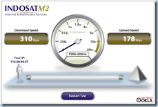 Speed Test IM2 HDPA 2 Januari 1.42