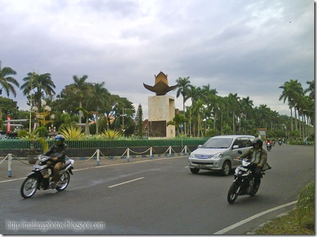 Monumen Lotus in Front of Brawijaya Museum