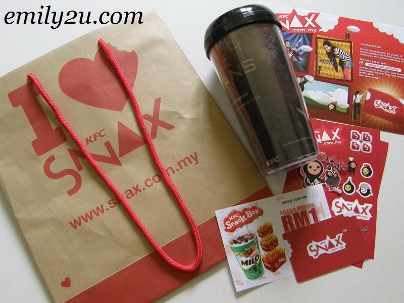 KFC Snax goodie bag