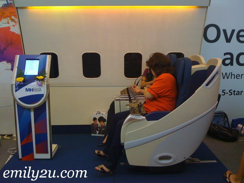 inside MAS Airplane