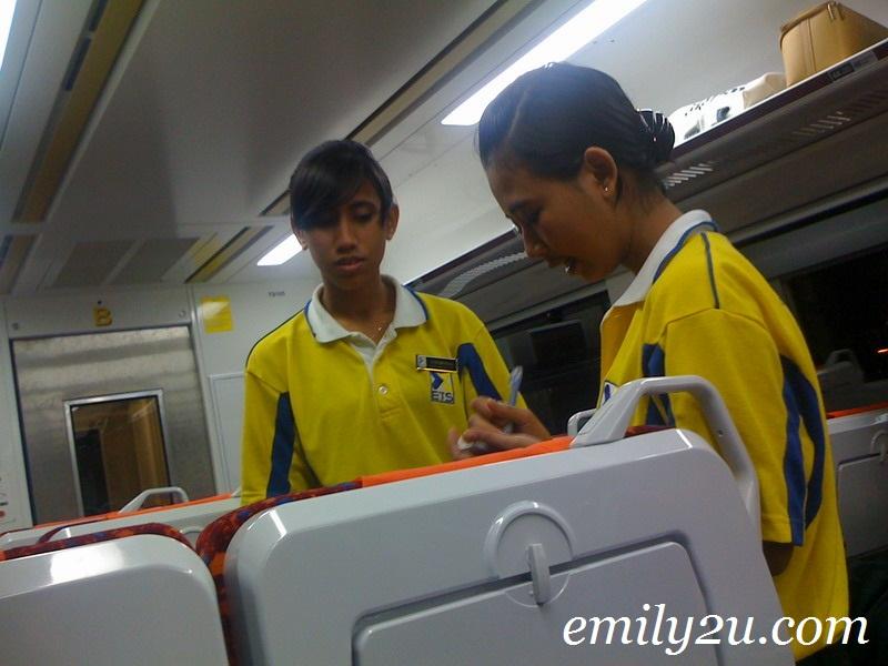 electric train stewardesses