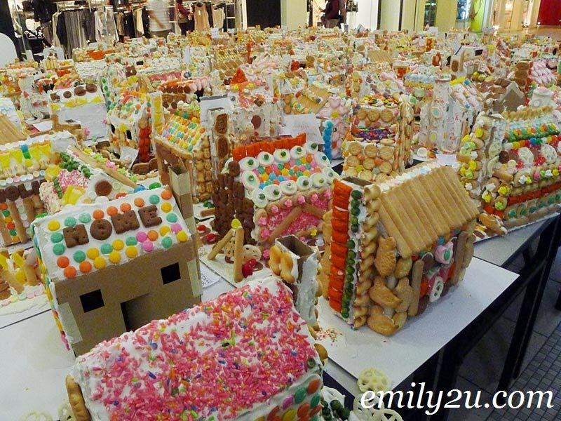 Bangsar Village gingerbread houses