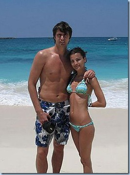 Memo Okur and wife Yeliz . . . too bad he's not doing the Blue Steele look here . . .