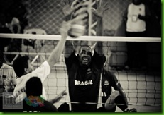 volley bloqueio P&B
