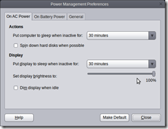 Screenshot-Power Management Preferences