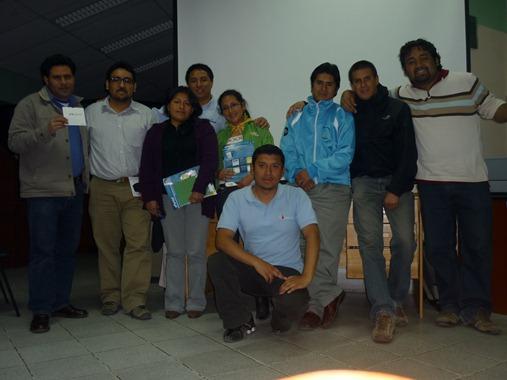 Finalizando el evento con los amigos de Informática del Gobierno Regional de Cajamarca