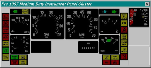 pre_1997_navistart_Instrument_Panel_Cluster instrument cluster light identification help school bus  at edmiracle.co