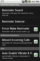 Screenshot of MineMessageVibrator
