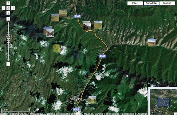 Localisation des photos : Dolon Pass (au Nord), Kichi-Kara-Kuchur (à l'Est) et Kara Unkur (au Sud).