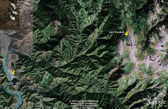 Les lacs de Karakol et la descente vers Chemal et la Katun