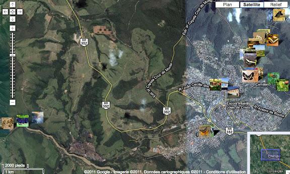 Emplacement de quelques photos dans et autour de Pitangui