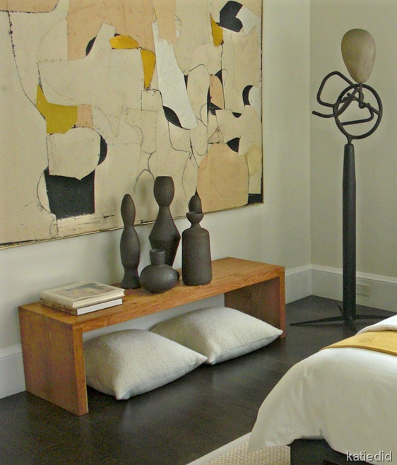 Dowling Kimm Studios Guest Bedroom Art Wall, Modern by Design Showhouse 2009