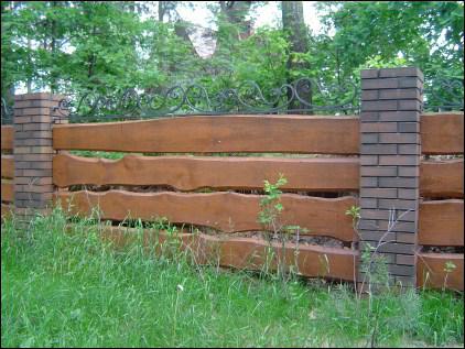 Słupki drewniane impregnowane
